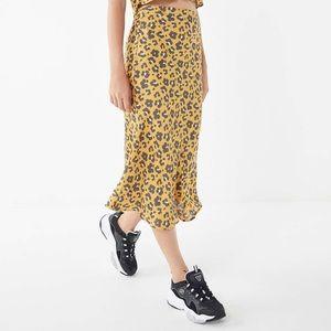 Quinn Animal Print Satin Skirt